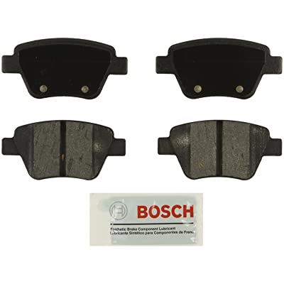 Bosch BE1456 Blue Disc Brake Pad Set for Select 2010-15 Audi A3, A4; Volkswagen Beetle, Eos, Golf, GTI, Jetta, Passat - REAR: Automotive