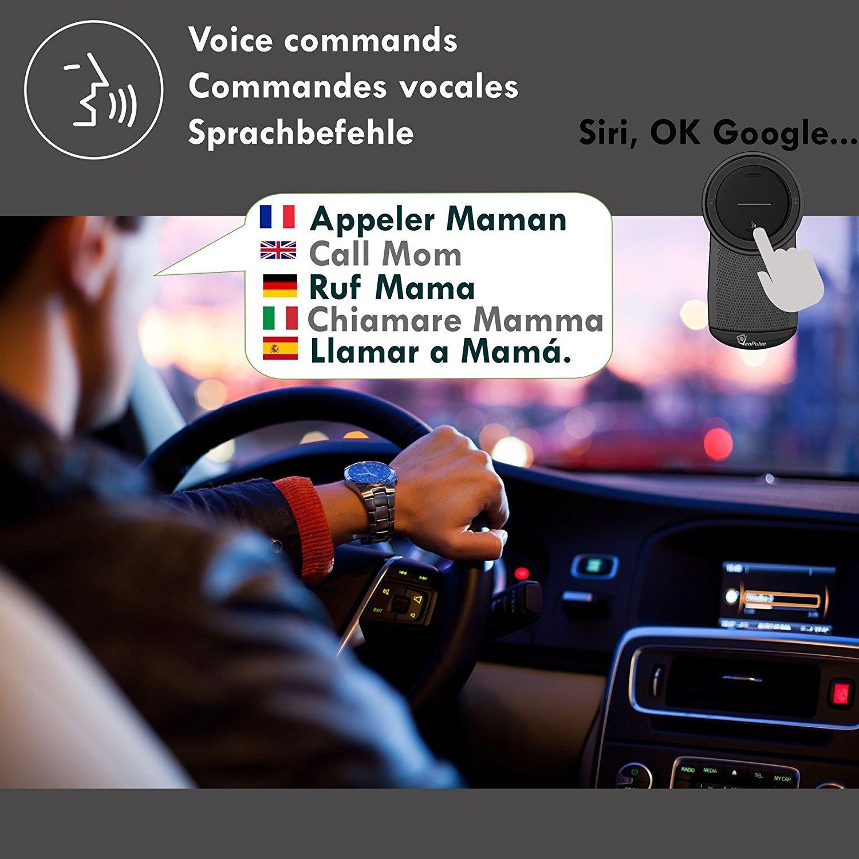 Veopulse B-PRO B Kit Main Libre voiture Bluetooth avec allumage et connexion automatique pour t/él/éphoner en s/écurit/é et l/égalit/é au volant