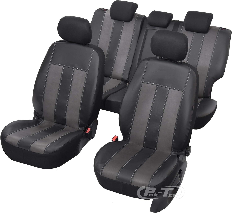 Universell Sitzbezüge Gt Space Kompatibel Mit Mitsubishi Asx Farbe Schwarz Grau Komplettes Set Von Bezügen Auto