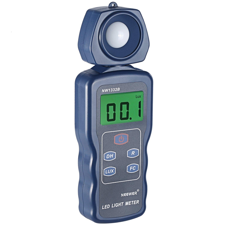 Neewer LED Light Meter Digital Luxmeter Illuminance Meter Handheld Actionometer with German Engineered Optical Sensor,LCD Display,270 Degree Rotatable Detector,Range 0.1-200,000 Lux/0.01FC-20,000FC