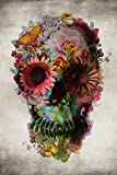 Amazon Price History for:Poster Service Flower Skull Poster, 24-Inch by 36-Inch