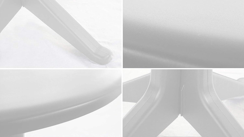 Oviala Table de Jardin Ronde en Plastique