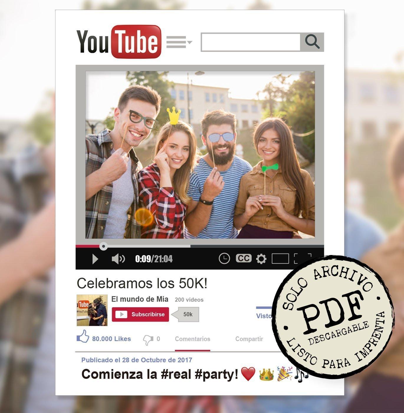 . PDF de Marco photocall DIY personalizado Facebook. Solo archivo PDF listo para imprimir