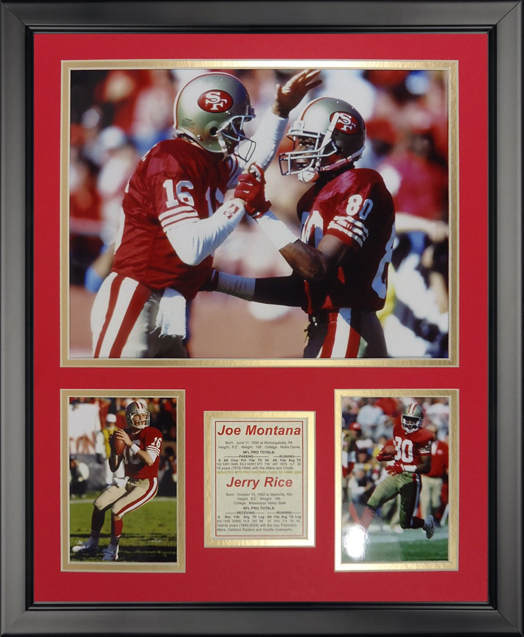 Legends Never Die San Francisco 49ers - Montana-Rice Framed Photo Collage, 16'' x 20''