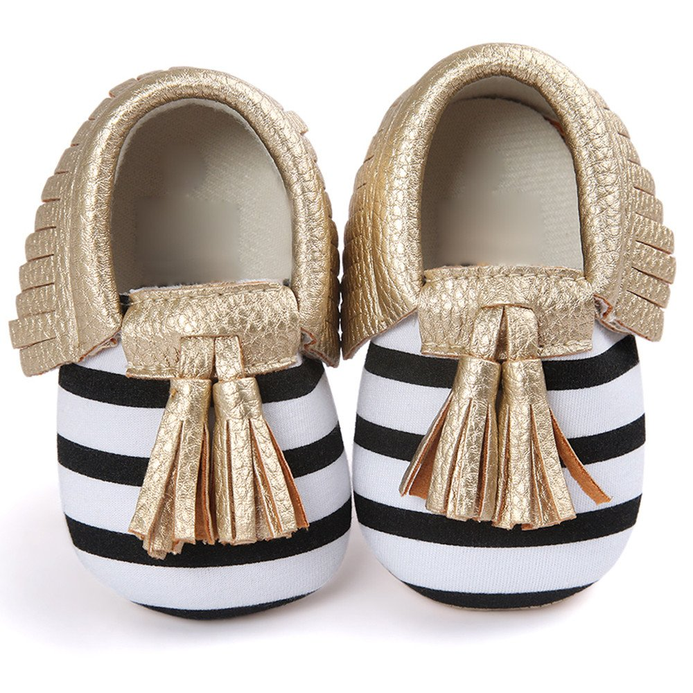 Infant Baby Girls and Boys Premium Soft Sole Moccasins Bowknot Prewalker Anti-Slip Toddler Shoes