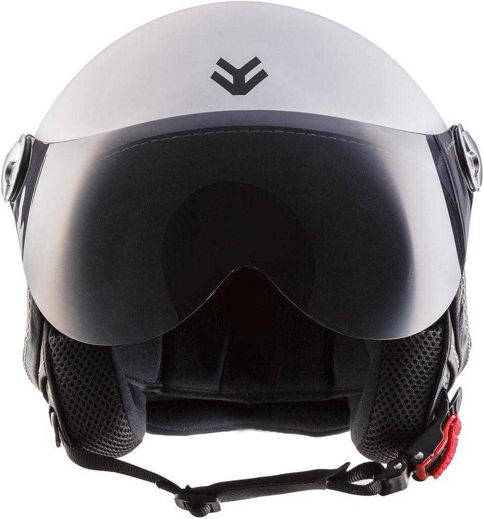 53-54cm ECE Visier Schnellverschluss Tasche XS Braun//Ranger ARMOR Helmets AV-84 Jet-Helm Motorrad