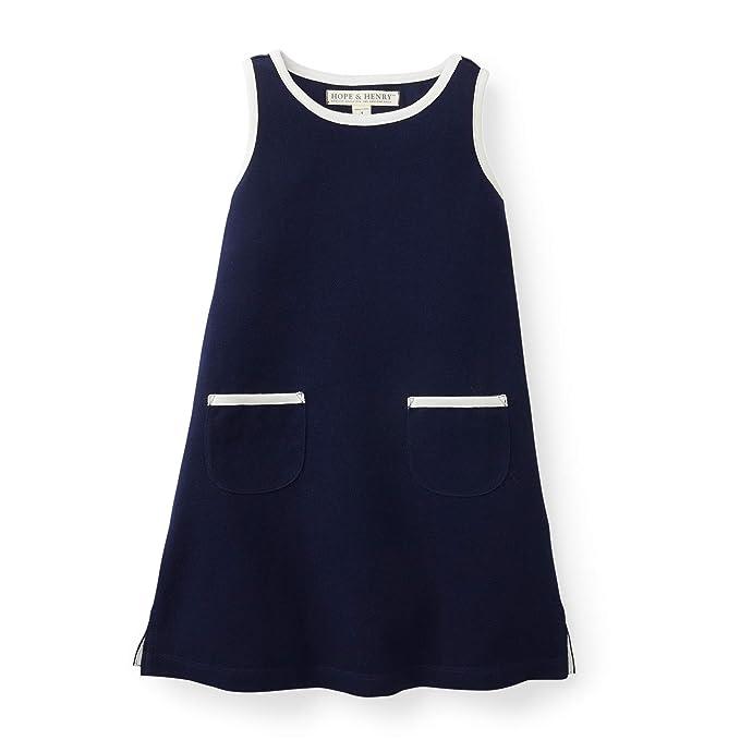 60s 70s Kids Costumes & Clothing Girls & Boys Hope & Henry Girls Pique Tank Dress $19.99 AT vintagedancer.com