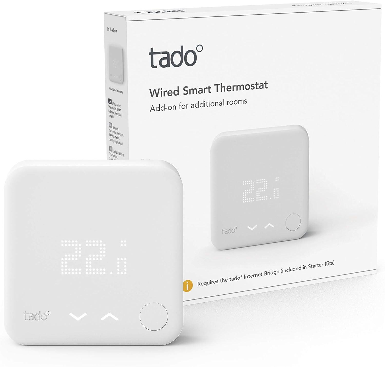 tado° Thermostat Connecté et Intelligent filaire – Accessoire pour le contrôle multi-pièces,...