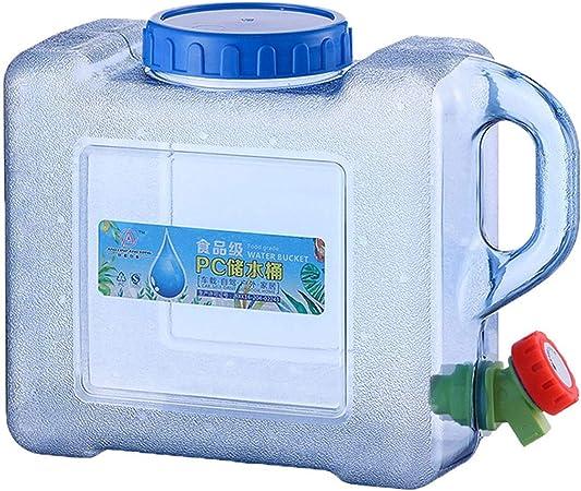 5L / 8L Contenedor De Agua Portátil, Bidón Plástico con Grifo Contenedor De Almacenamiento De Agua con Tapa Y Grifo para Acampar Viajes Pesca Picnic