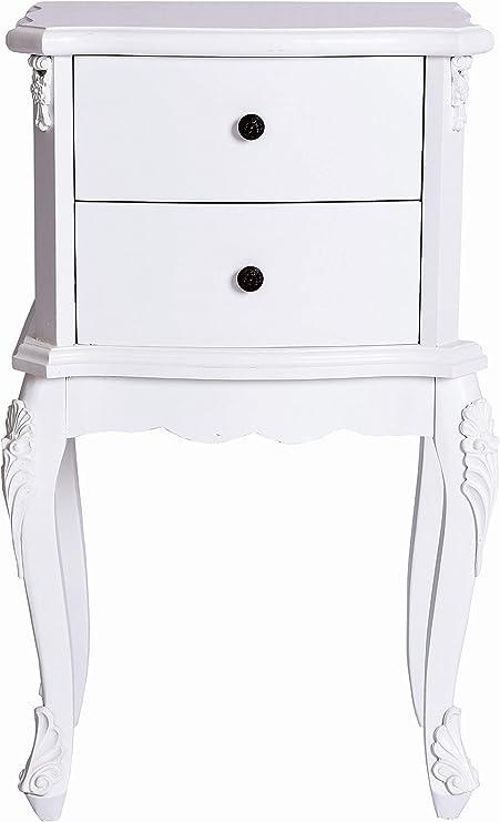 Nachttisch Weiss Nachtschrank Shabby chic Nachtkonsole Schlafzimmer hmb118 Palazzo Exklusiv