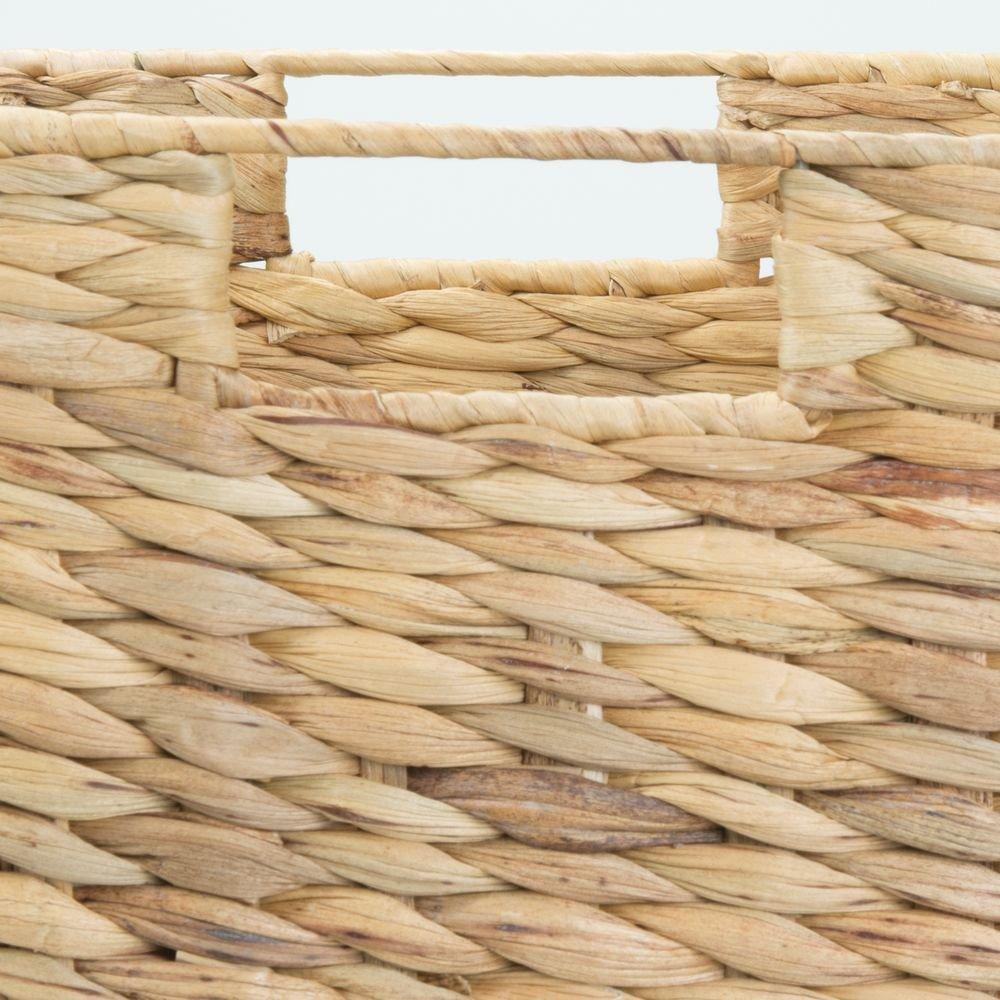 mDesign Set da 2 cesti portaoggetti giocattoli e riviste Cesta portaoggetti pieghevole in giacinto dacqua Cesto intrecciato ideale per sistemare vestiti color naturale Con manici integrati