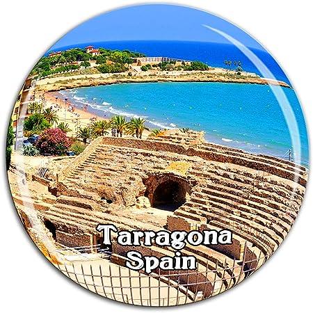 Anfiteatro Tarragona España Imán de Nevera Cristal 3D Cristal Ciudad Turística Recuerdo de Viaje Colección Regalo Fuerte Refrigerador Pegatina: Amazon.es: Hogar