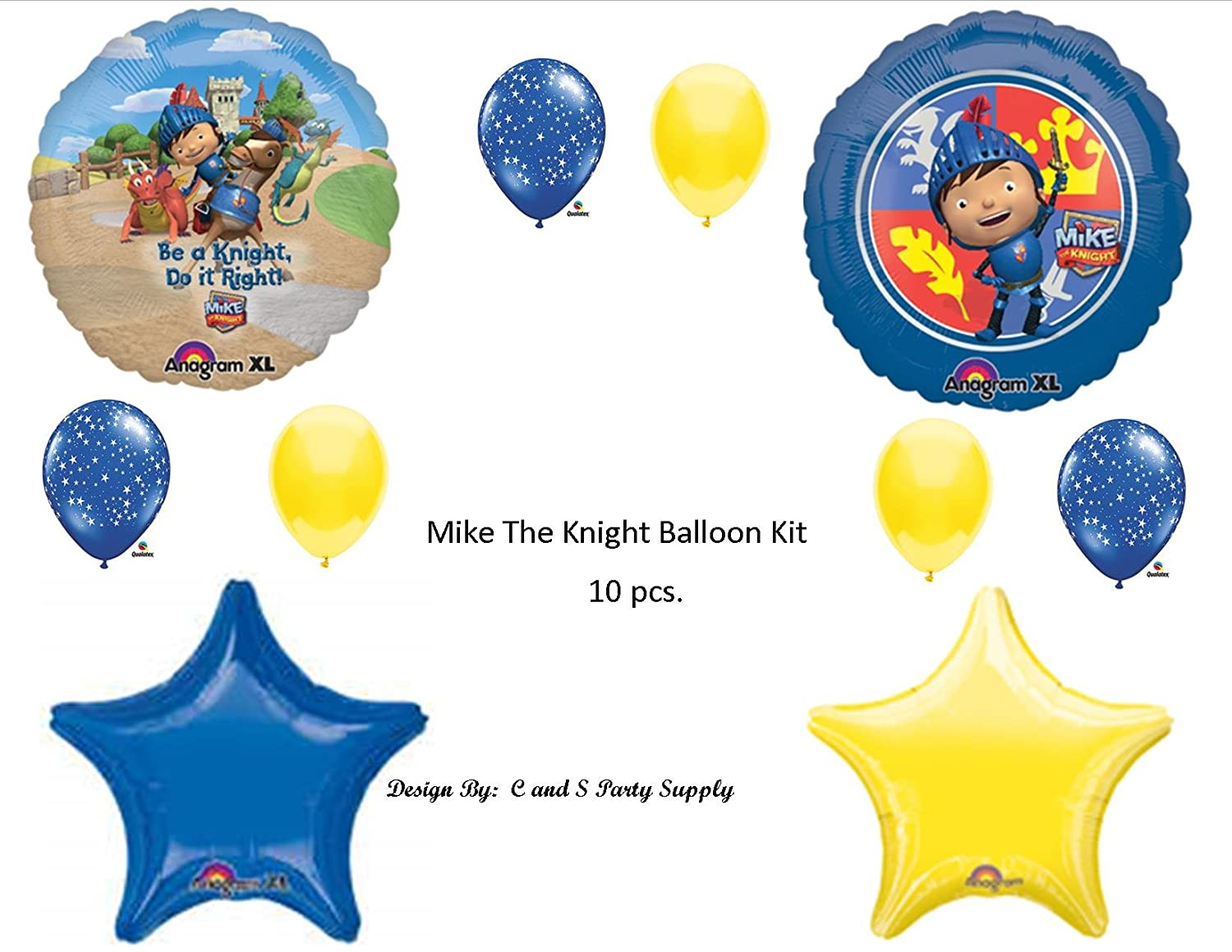 Amazon.com: Mike The Knight Birthday Balloon Kit Birthday ...