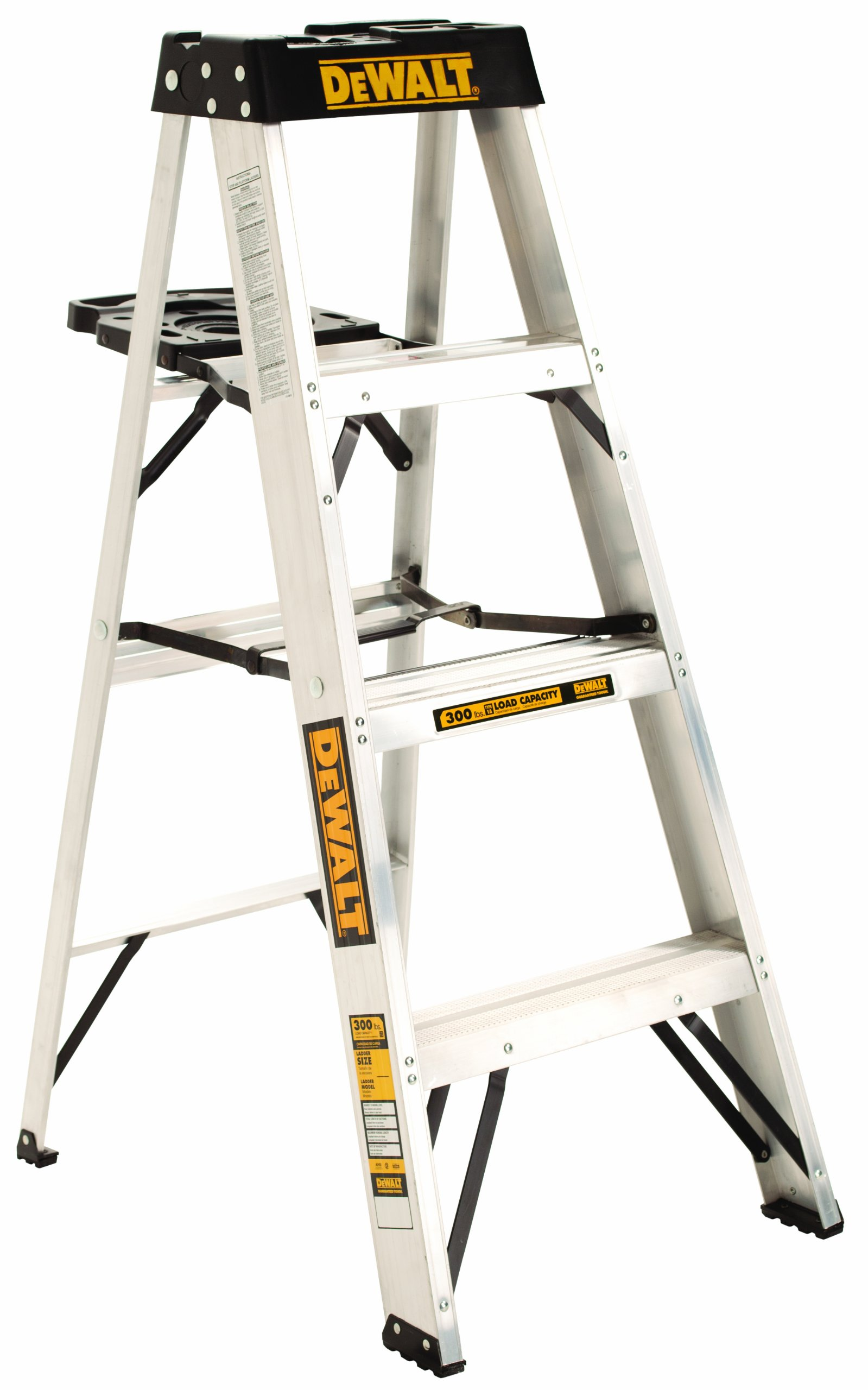 DeWalt DXL2010-04 4-Feet Aluminum Stepladder Type IA with 300-Pound Duty Rating, 4-Feet by DEWALT