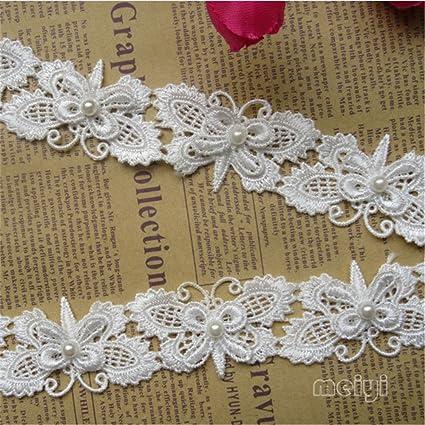 3 yd Vintage Sequins Lace Edge Trim Wedding Bridal Dress Ribbon Sewing Craft DIY