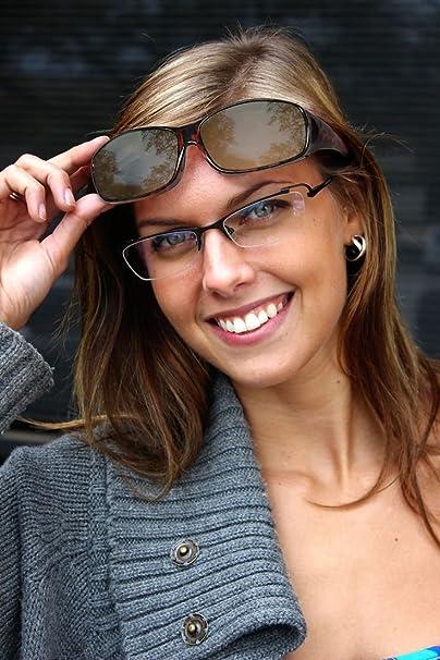 ACHATPRATIQUE Gafas de Sol superpuestasa | Conjunto de 2 Piezas | para Conducir DÍA y Noche | Protección Anti UV400 | Wraparound Fit Sobre los Cristales: ...