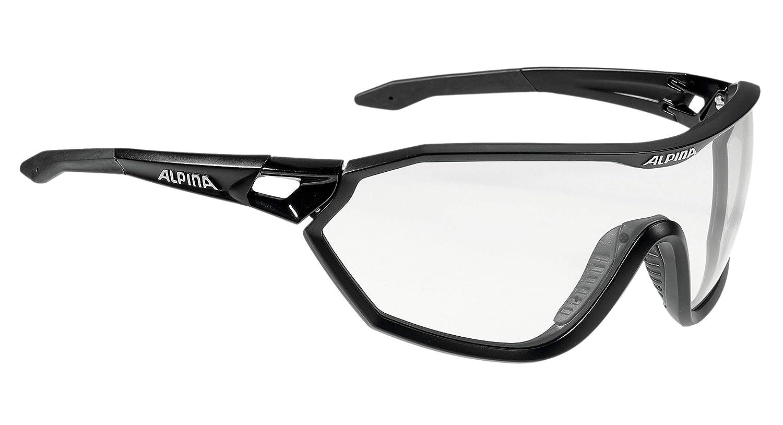ALPINA S-Way VL+ Sportbrille, schwarz matt, One Größe