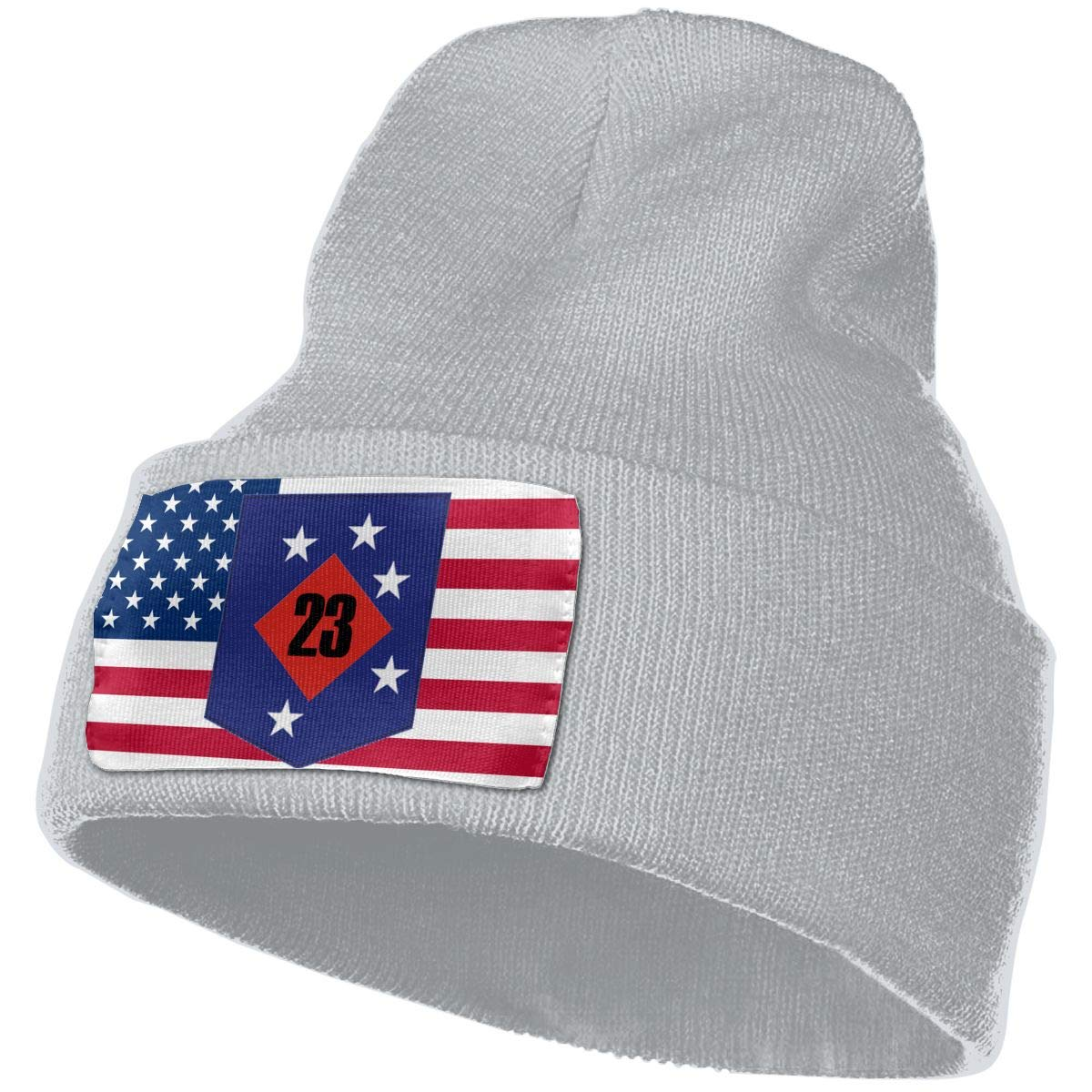 23rd Marine Regiment Men/&Women Warm Winter Knit Plain Beanie Hat Skull Cap Acrylic Knit Cuff Hat