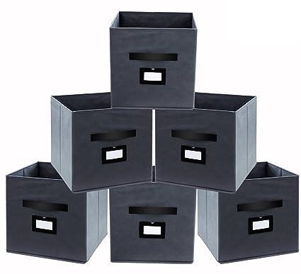 Amazoncom Onlyeasy Fabric Foldable Storage Cubes Bins Boxes