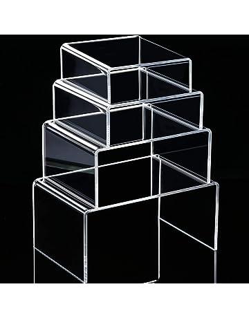 FixtureDisplays 4PK 1x1x1 Acrylic Riser Paper Weight Clear Acrylic Cube Riser Solid Block 18830-1x1x1-4PK
