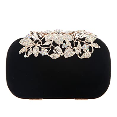 85a1675775d Fawziya Crystal Flower Velvet Evening Bags And Clutches For Women Clutch  Purse-AB Gold