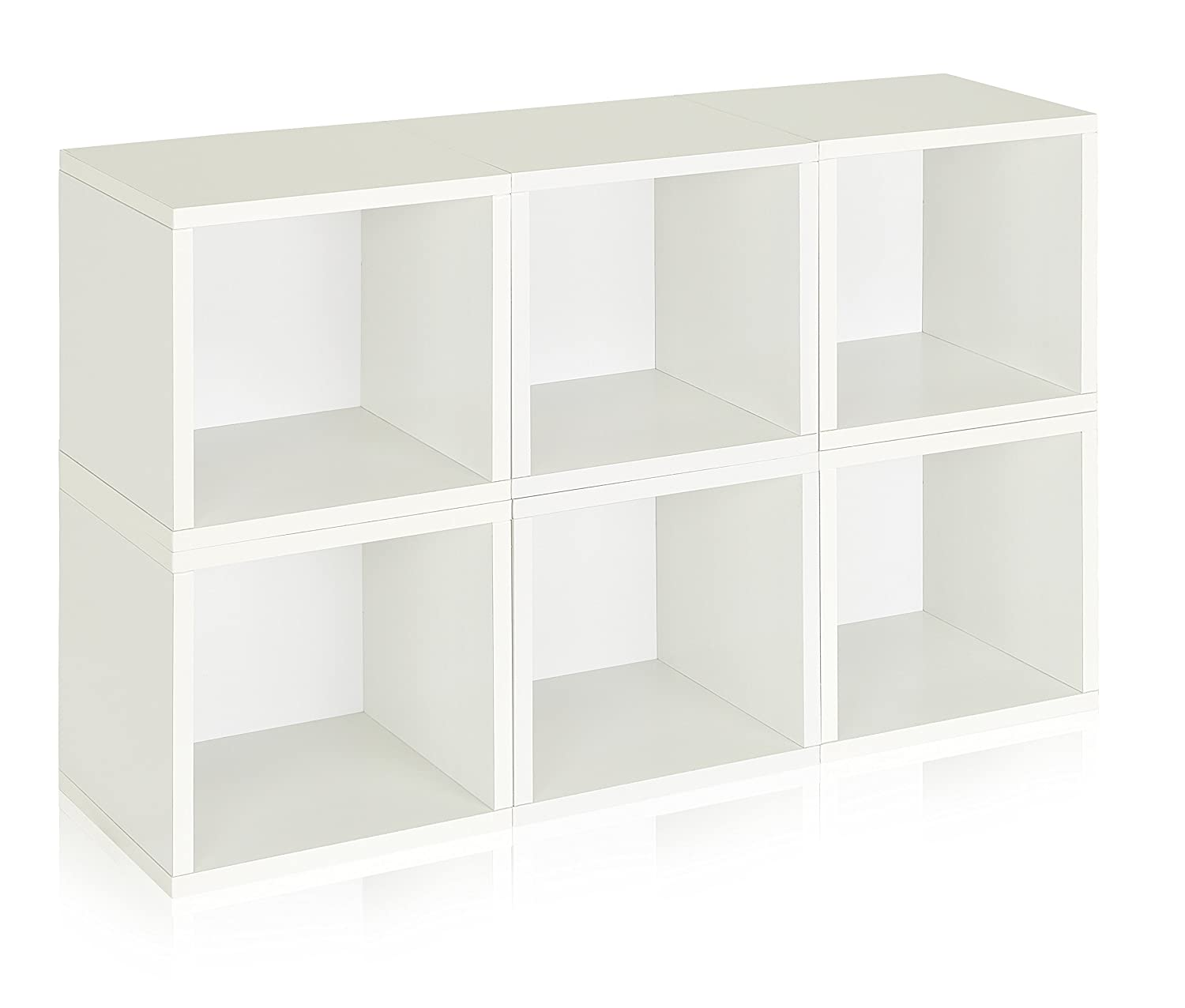 Way Basics PS-MC-6-WE Stackable 6 Modular Storage Cubes, White