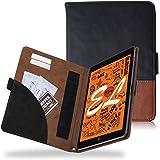 エレコム iPad mini5 /iPad mini4 ケース ソフトレザーカバー フリーアングル ツートン ブラック×ブラウン TB-A19SPLFDTBK