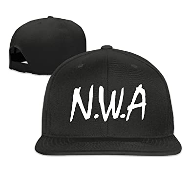 9e155ba14ef CieMoAs Straight Outta Compton NWA Unisex Adjustable Flat Trucker Baseball  Cap Black