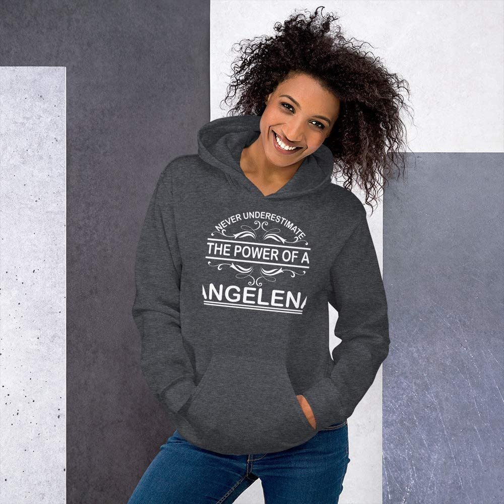 Never Underestimate The Power of Angelena Hoodie Black