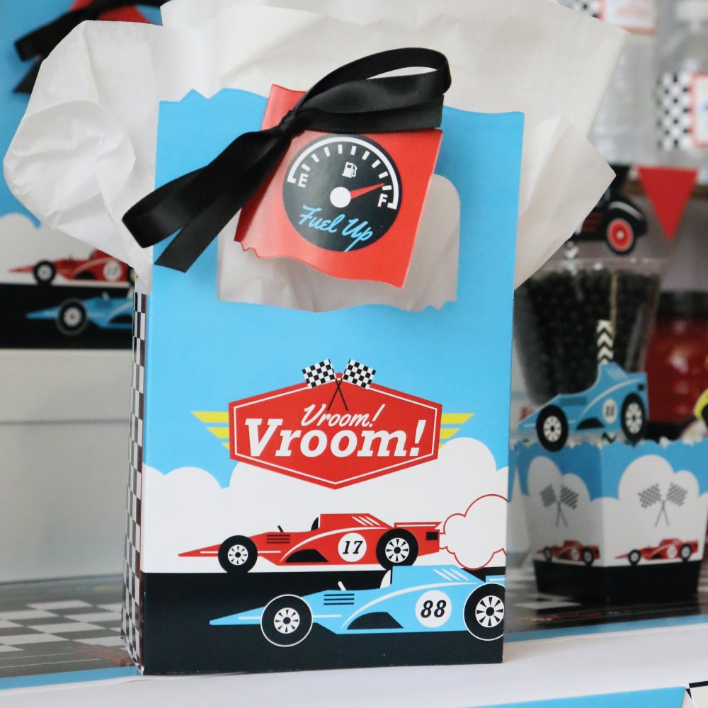 Racecar Let/'s Go Racing Set of 12 Baby Shower or Race Car Birthday Party Favor Boxes