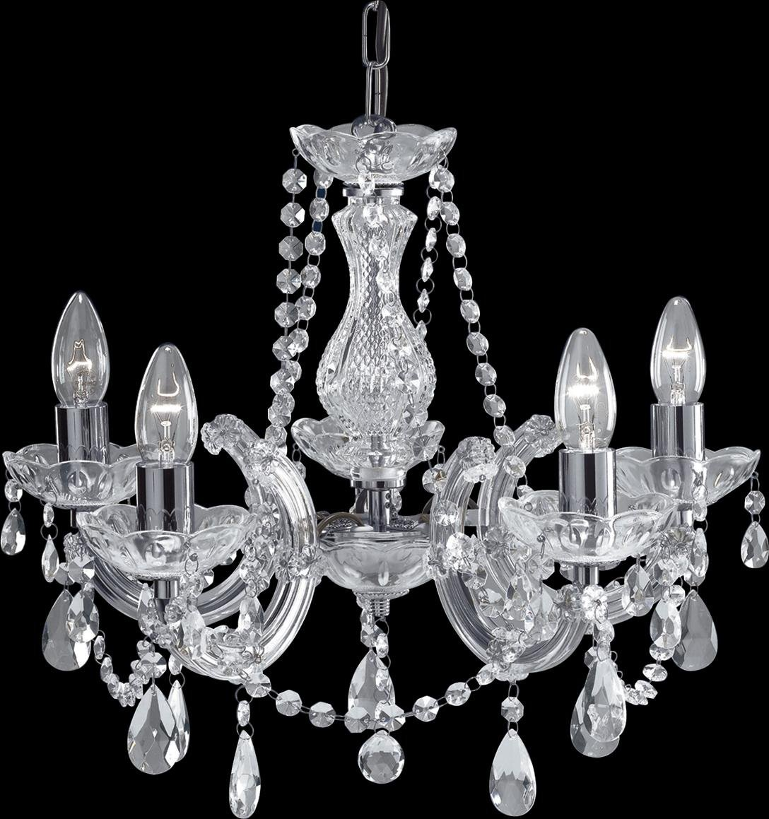 399 5 Marie Therese Chrome Light Chandelier With Crystal Droplets Searchlight Co Uk Kitchen Home