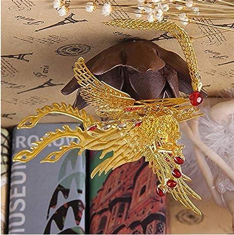 usongs Disfraz Chino Novia Hefon Dorado Dragón y Phoenix Gown Boda ...
