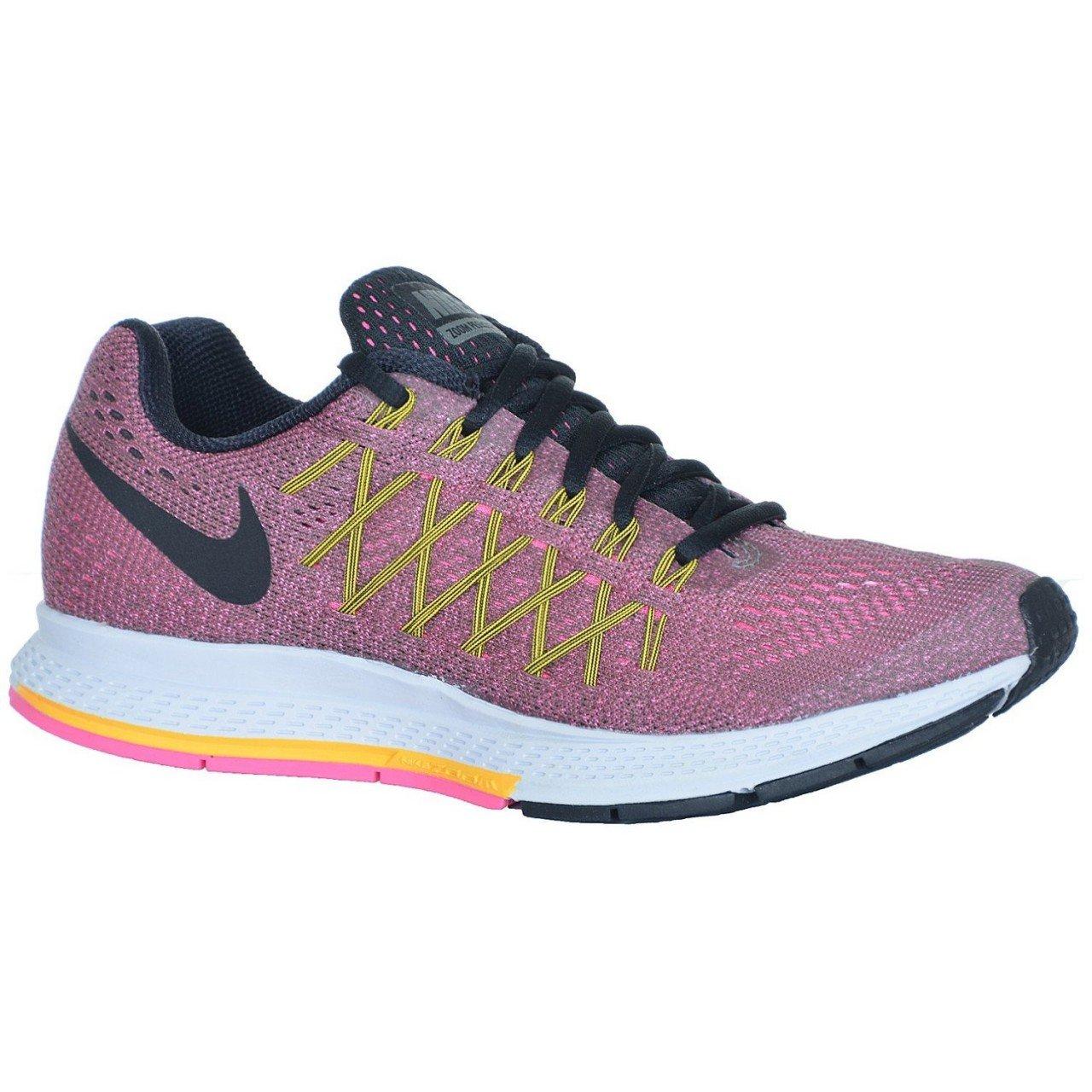 Nike Wmns Air Zoom Pegasus 32 - tmbld gry blck-lsr orng-pnk pw, Größe   5.5
