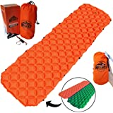 Best Ultralight Sleeping Pad for Camping, Backpacking, Hunting & Hiking by Rugged Mountain, Inflatable Air Matress, Compact Sleep Mat, Lightweight Portable & Connectable Camping Gear Gifts