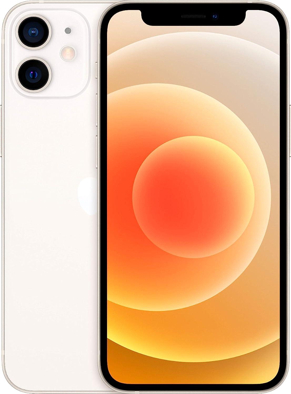 Apple iPhone 12 Mini, 64GB, White - Fully Unlocked (Renewed)