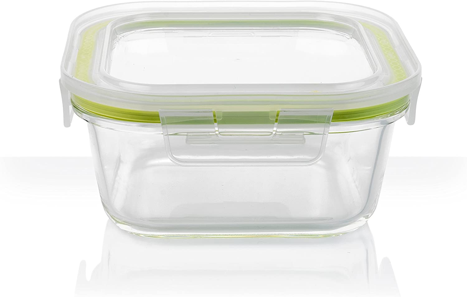 Komax A-1037 Borosilicate Glass Oven Food Storage Container, Rectangular - 800ml