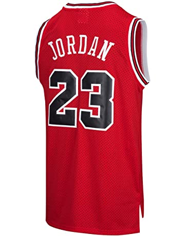 e74508943dd RAAVIN Legend Mens  23 Basketball Jersey Retro Athletics Jersey Red White  Black Strip S