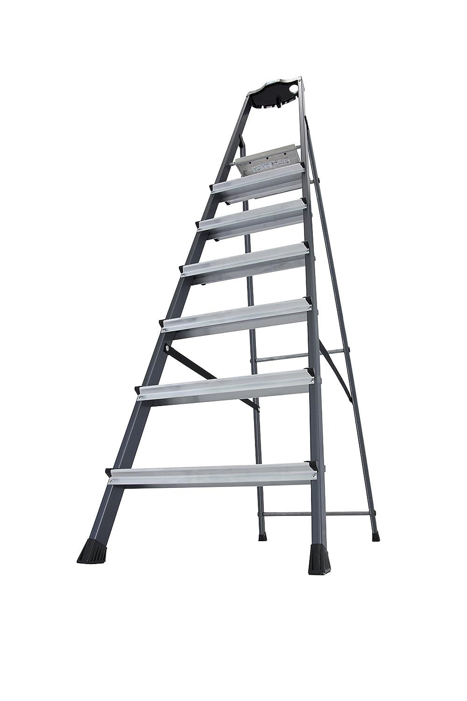 7 Stufen 126450 KRAUSE Stehleiter Securo eloxiert