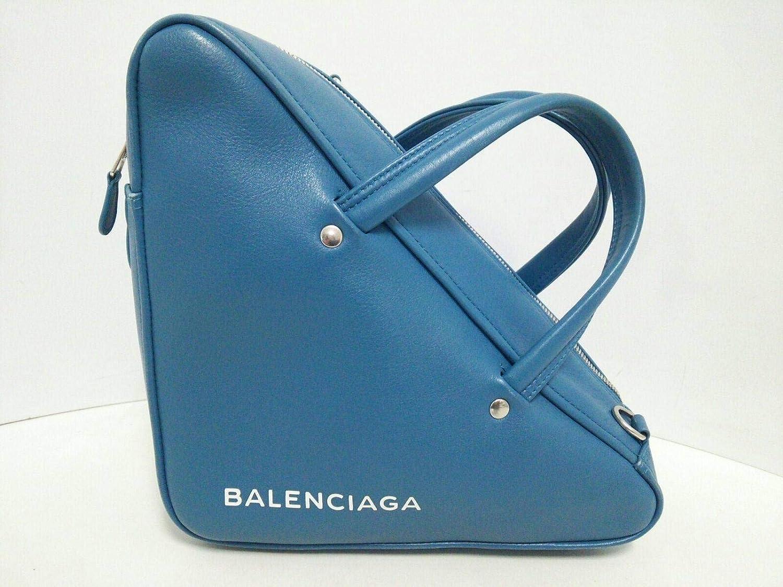 (バレンシアガ)BALENCIAGA ハンドバッグ ライトブルー 476975 【中古】 B07LF6RSTQ