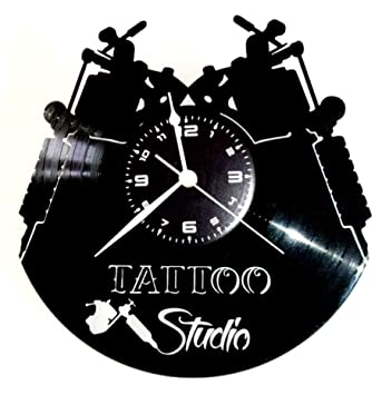 Reloj de vinilo de pared Disco LP 33 RPM Instant Karma Idea regalo de época, hecho a mano. Tatuaje tribal. Tienda, estudio, tatuaje.: Amazon.es: Hogar