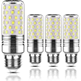Yiizon lampadine LED di mais, candelabro a LED da 15 W, E27, 120W equivalenti a incandescenza, 3000K Bianca Calda, 1500LM, CRI>80+, non dimmerabile(4 pezzi) (Freddo E27)