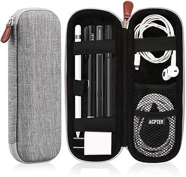 AGPTEK Estuche para Apple Pencil, Cubierta de EVA para Lápiz de iPad /Pro, Microsoft, Samsung, HAHAKEE, Wacom etc. Soporta Cable USB y Auriculares, Gris: Amazon.es: Electrónica