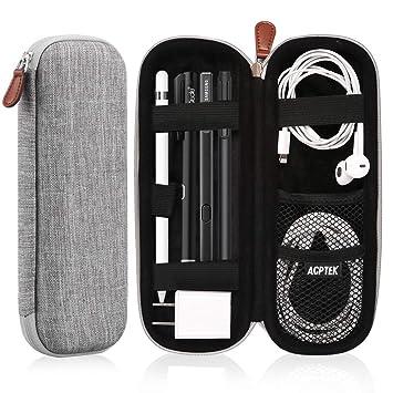 AGPTEK Estuche para Apple Pencil, Cubierta de EVA para Lápiz de iPad /Pro, Microsoft, Samsung, HAHAKEE, Wacom etc. Soporta Cable USB y Auriculares, ...