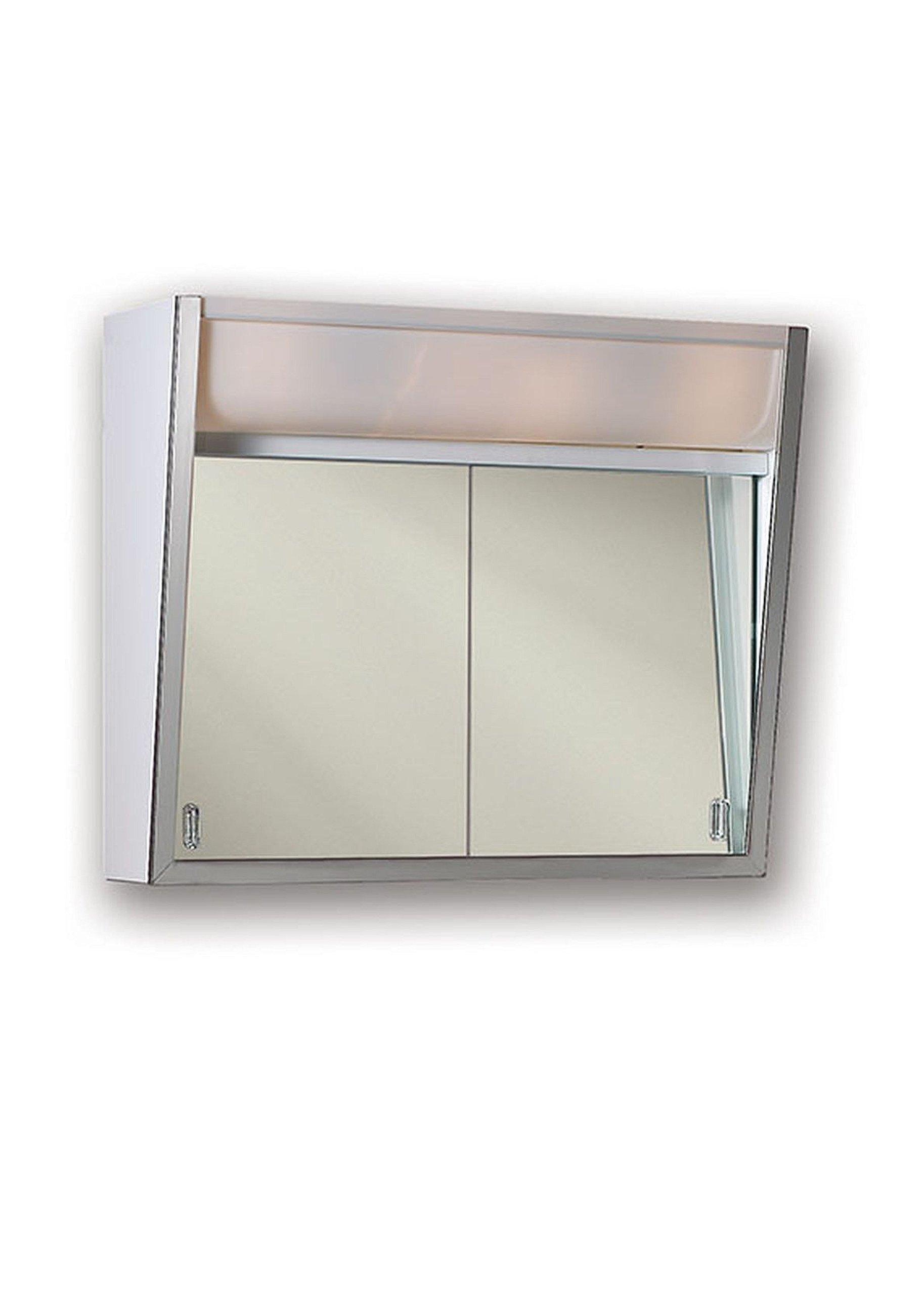 Jensen 323LPX Lighted 2-Sliding Doors Medicine Cabinet, 24'' x 19.5''