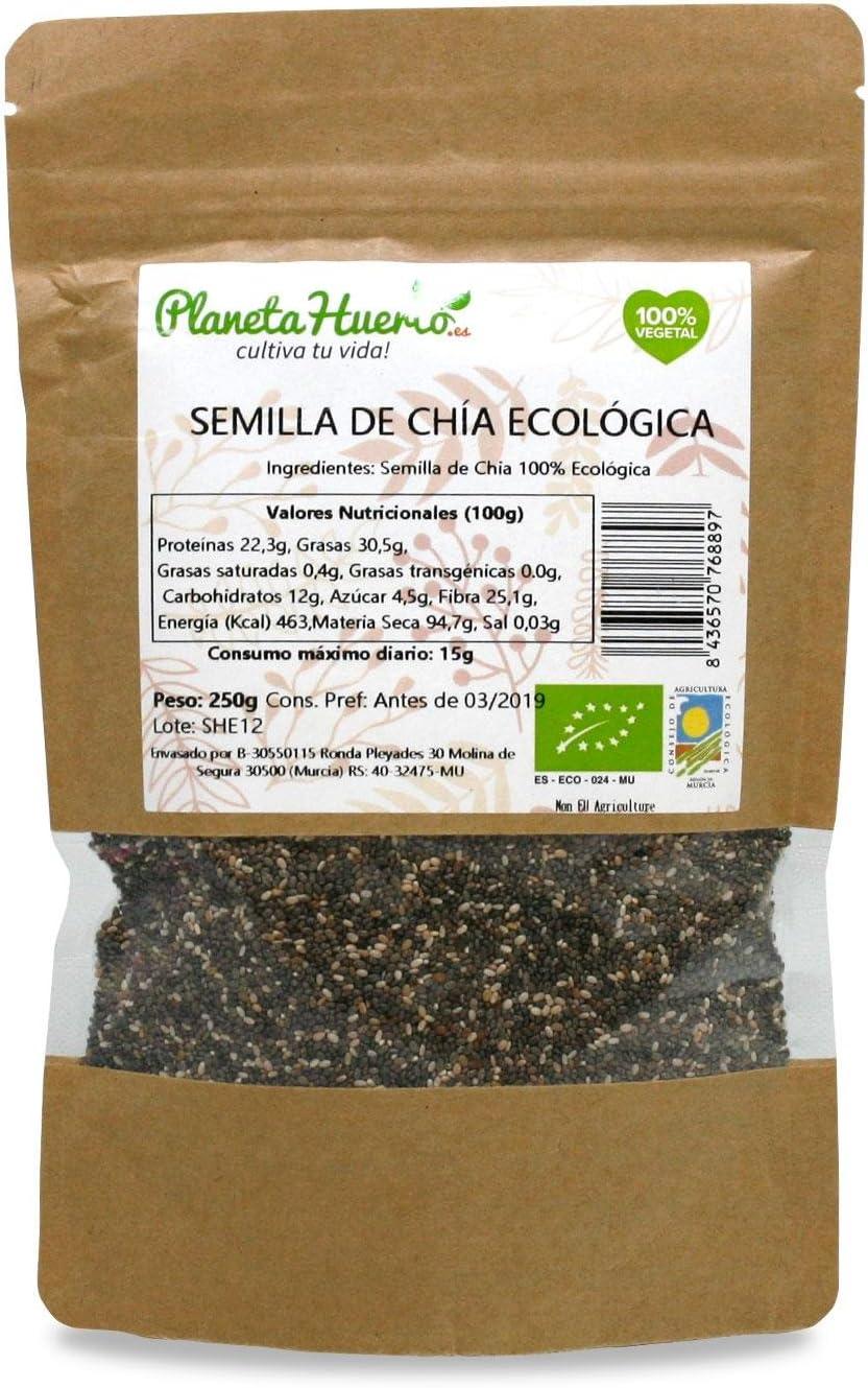 Planeta Huerto Semilla de Chía Eco, 250 g: Amazon.es: Hogar