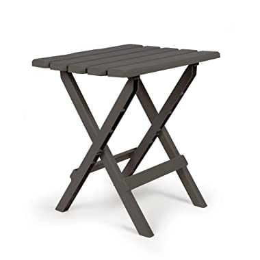 Camco 51885 Charcoal Large Adirondack Portable Outdoor Folding Side Table, Perfect for The Beach, Camping, Picnics, Cookouts and More, Weatherproof and Rust Resistant
