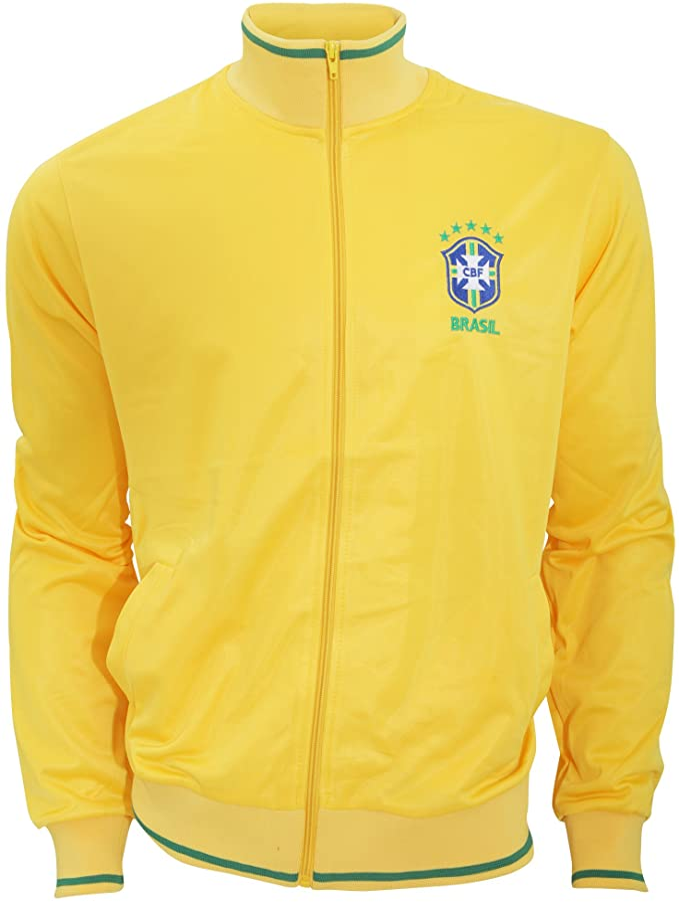 CBF BRAZIL Herren Football Crest Brazil CBF Fußball Jacke, Gelb, Größe S