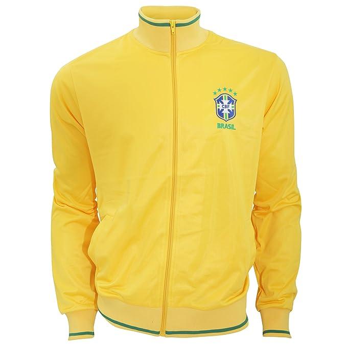 Brasil CBF - Sudadera Oficial de la selección de Brasil de Fútbol con Escudo en el