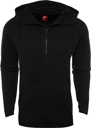Amazon Com Nike Mens Tech Fleece Half Zip Hoodie 884892 010 Clothing