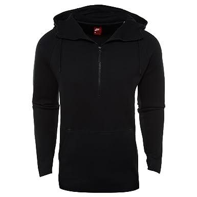 fa5729acddbd Nike Mens Sportswear Tech Fleece Half Zip Hoodie (Negro